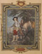 A Victorian print, Charles I, framed and glazed. 42 x 49.5 cm overall.