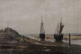 S CONWAY LLOYD JONES, Coastal Scene, watercolour, signed, framed and glazed. 51 x 34 cm.