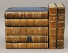 Novels of George Eliot, 1889, bound in half leather.