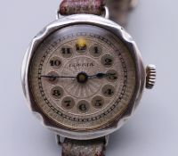 A silver cased ladies wristwatch, hallmarked London 1926, dial marked Longia,