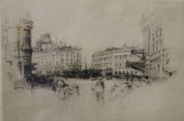 FREDERICK ARTHUR FARRELL (1882-1935) British, Piccadilly Circus, etching,