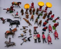 A quantity of lead soldiers, etc.