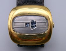 A vintage digital Mechanical Mans wristwatch, US Patent 3685283, in working order.