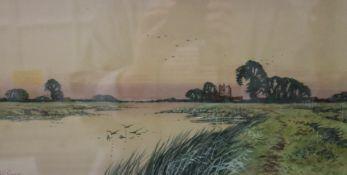 FREDERICK GORDON FRASER (1879-1931) British, three various River Scenes, watercolours, signed,
