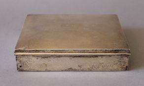 A Cartier sterling silver cigar box. 16.5 cm wide. (429.