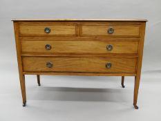 An Edwardian mahogany dressing chest. 106.5 cm wide.