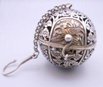 A Chinese ball censer.