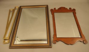 Four various mirrors. The largest 64 x 95 cm.