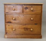 A pine chest of drawers. 89.5 cm wide.