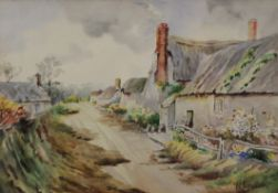 F E JAMIESON (1895-1950) British, Country Cottages, watercolour, signed, framed and glazed. 36.