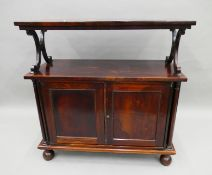A 19th century rosewood buffet. 92 cm wide.