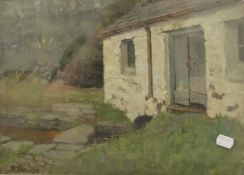 ROBERT DONNAN (1863-1953) British, The Lade, oil on panel, signed, titled to verso,