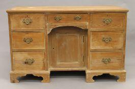 A 19th century pine desk. 116 cm wide.