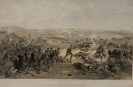WILLIAM SIMPSON, two images from his Crimea War Series, prints, each framed and glazed.