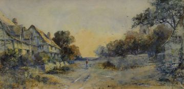 LEYTON FORBES, The Road to St Ives and Near Truro, a pair, watercolour, each signed,