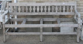 An African stinkwood bench. 187 cm wide.