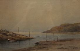 CHARLES HANNAFORD JNR, Evening at Porlock Weir, Somerset, watercolour, signed, framed and glazed.