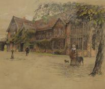 CECIL ALDIN, Ockwells Manor, print, signed to margin, framed and glazed. 44 x 37.5 cm.