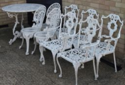 A quantity of patio furniture.