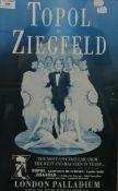 Topol In Ziegfeld, London Palladium, theatre poster, framed and glazed. 39.5 x 49 cm.