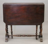 A Victorian Sutherland table. 64 cm deep.