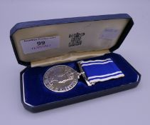 A Police Long Service and Good Conduct medal, Avon and Somerset,
