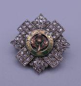A Scots Guards Regiment sweetheart brooch. 2.5 cm wide.