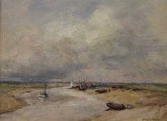OWEN WATERS (1916-2004) British (AR), Blakeney Norfolk, oil on board, signed, framed. 39.5 x 29.