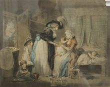 WARD After MORLAND, Visit of a Child to a Nurse, print, dated 1788, framed and glazed. 57.5 x 47.