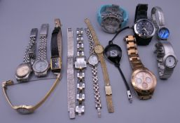 A quantity of various wristwatches