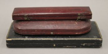 Three cased silver Christening sets. 72.8 grammes of weighable silver.