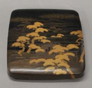 A Japanese lacquered box. 23 cm wide.
