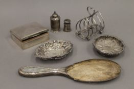 A quantity of silver and silver plate. 80.4 grammes of weighable silver.