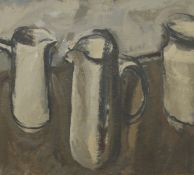 JEREMY LE GRICE (1936-2012) British (AR), Still Life of Jugs, oil on board,