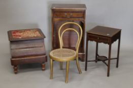 A modern side cabinet, a small sewing table, a child's chair and a commode. The former 45.5 cm wide.