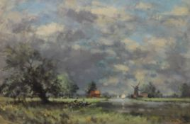 OWEN WATERS (1916-2004) British (AR), ''Approaching Storm'', oil on board, signed, framed. 60 x 39.