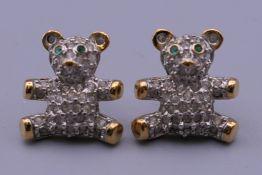 A boxed pair of Swarovski earrings.