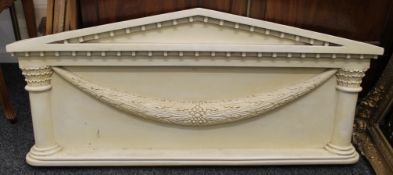 A reproduction of an antique architectural pilaster. 137 cm wide.