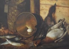 ENGLISH SCHOOL (19th century), Still Life of Dead Game, oil on canvas, framed. 72.5 x 52 cm.