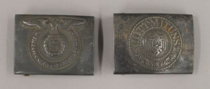 Two WWII Nazi buckles.