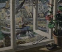 WILLIAM H MAILE (20th century) British, From a Polperro Window, oil on board, signed, framed.