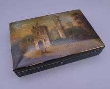 A Victorian cased sewing set. The case 14.5 cm wide.