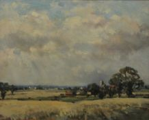 OWEN WATERS (1916-2004) British (AR), Norfolk Country Scene, oil on board, signed, framed.