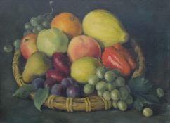 Still Life of Fruit, oil on board, framed. 39.5 x 29 cm.
