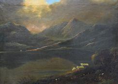 H TATE, Highland Landscape, oil on canvas, signed, framed. 55 x 39.5 cm.