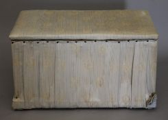 A 19th century upholstered ottoman. 84 cm wide.