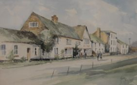 JASON PARTNER, The Bell Inn, Walberswick, watercolour, framed and glazed. 37 x 23 cm.