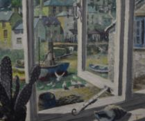 WILLIAM H MAILE (20th century) British, Polperro Harbour View, oil on board, signed, framed.