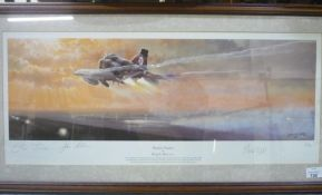 "Philip West ""Phantom Thunder"", ltd. ed. print 32/300, signed by the artist and Phantom crew members,"