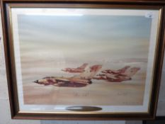 "Eric Day, ""Desert Storm"", ltd. ed. print 897/1000, signed by John Peters and John Nichol who were"
